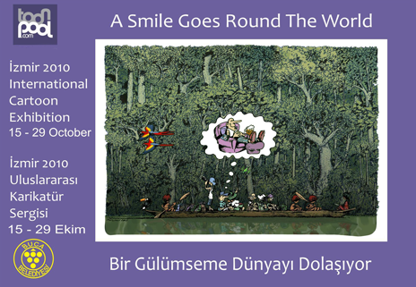 A Smile Goes Round the World toonpool.com exhibition in Izmir