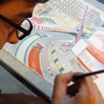 "Drawing the ""Macau Grand Prix"", a famous motor racing event"