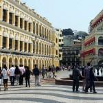 San Ma Lou, The Senate Square. Half European, half Chinese: Macau